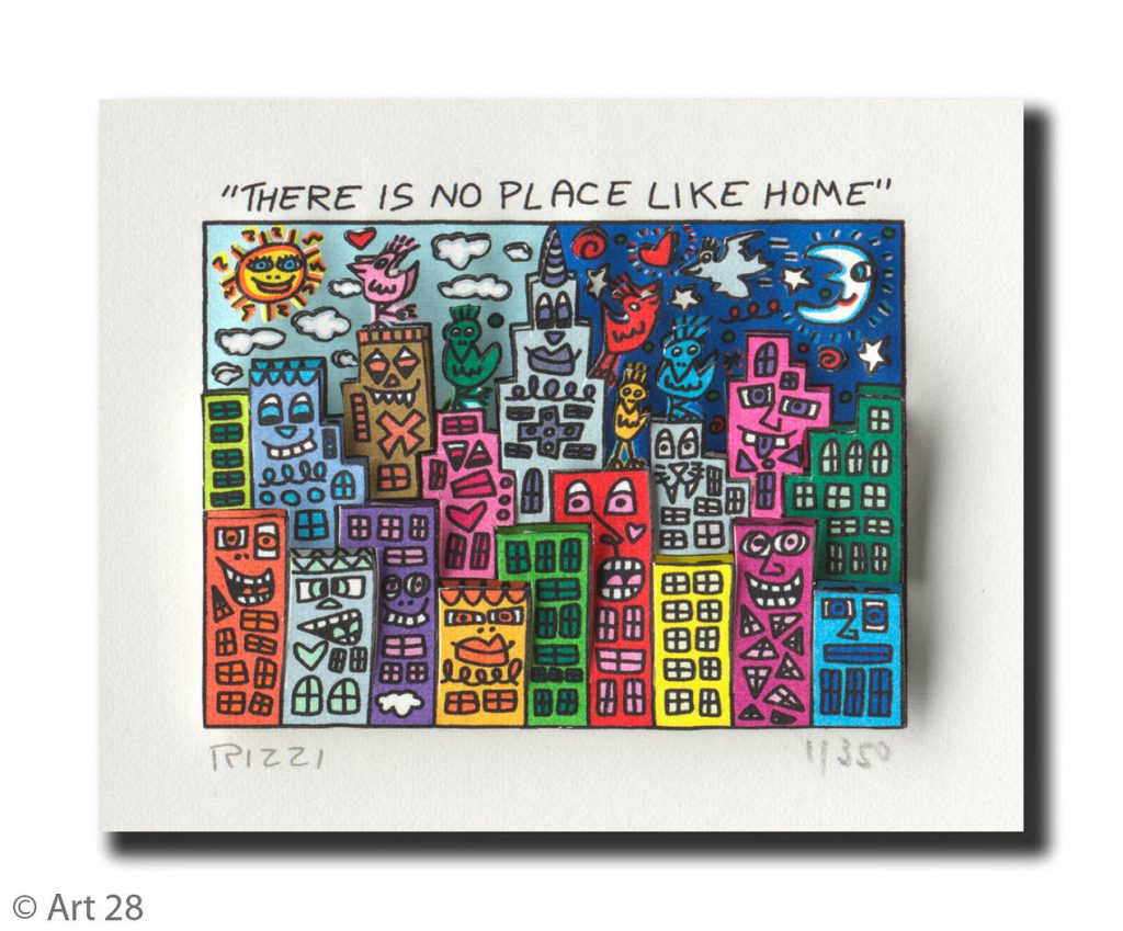 ThereIsNoPlaceLikeHome1 1024x849 - James Rizzi