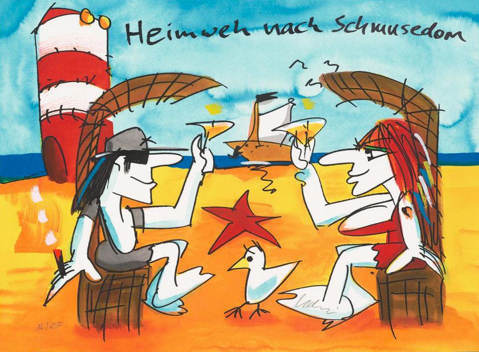 Udo Lindenberg Heimweh nach Schmusedom Kunsthandel Koenen Bocholt 2020 - Udo Lindenberg - coole neue Werke