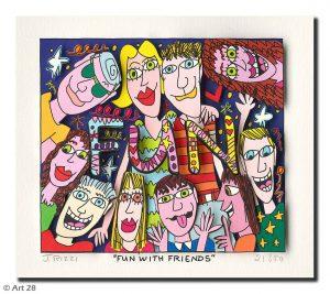 RIZZI10194 Fun with friends Kunsthandel Koenen Bocholt 300x267 - Vom weitem Meer in den ART NETWORK Shop - Die AIDA-Werke vonJames Rizzi