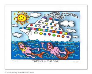 RIZZI10298 Rizzi 2019 01 000 SirensInTheSea 95 135 300x242 - Vom weitem Meer in den ART NETWORK Shop - Die AIDA-Werke vonJames Rizzi