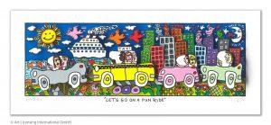 RIZZI10301 Lets go on a fun ride 300x139 - Vom weitem Meer in den ART NETWORK Shop - Die AIDA-Werke vonJames Rizzi