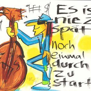 """Udo Lindenberg Es ist nie zu spaet noch einmal durchzustarten  blauer Anzug Kunsthandel Koenen 2020 300x300 - Udos """"panische Konsequenz in der Corona Krise"""""""