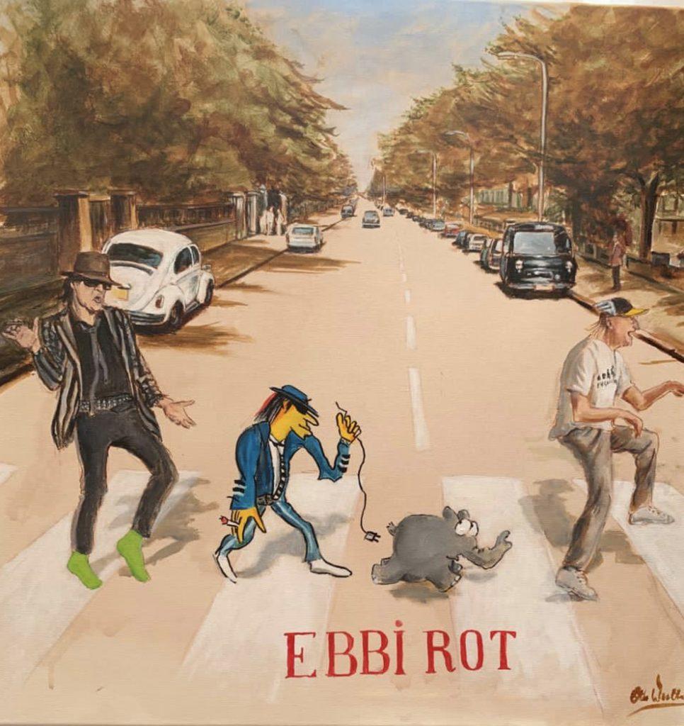 """Otto Waalkes EbbiRot 2021 Kunsthandel Koenen Bocholt 2021 966x1024 - Das besondere Kunstwerk - """"Ebbi Rot Udo 2021"""" vonOtto Waalkes"""