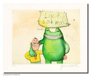 JA00541 Janosch Lach doch mal Mann  Frosch 300x253 - Wir gratulieren - 90 Jahre Janosch