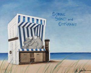 Otto Waalkes Sonne Sand und Ottifant Kunsthandel Koenen 2021 300x239 - Neues von Otto Waalkes