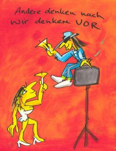 Udo Lindenberg Andere denken nach wir denken vor Kunsthandel Koenen Bocholt 2021 230x300 - Neues von Udo Lindenberg