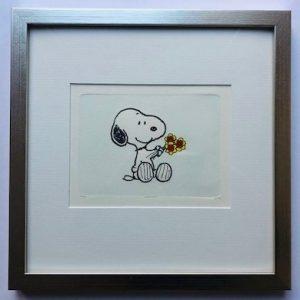 Charles M Schulz Flowers II gerahmt Kunsthandel Koenen Bocholt 2021 300x300 - Die Peanuts kommen - mit Charles M. Schulz in unserem Shop