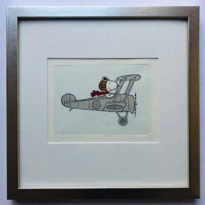 Charles M Schulz Flying High gerahmt Kunsthandel Koenen Bocholt 2021 300x300 - Die Peanuts kommen - mit Charles M. Schulz in unserem Shop