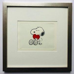 Charles M Schulz I heart you gerahmt Kunsthandel Koenen Bocholt 2021 300x300 - Die Peanuts kommen - mit Charles M. Schulz in unserem Shop