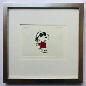 Charles M Schulz Joe Cool gerahmt Kunsthandel Koenen Bocholt 2021 300x300 - Die Peanuts kommen - mit Charles M. Schulz in unserem Shop