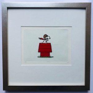 Charles M Schulz Red Baron gerahmt Kunsthandel Koenen Bocholt 2021 300x300 - Die Peanuts kommen - mit Charles M. Schulz in unserem Shop