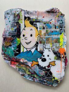 Tanja Kieselwalter Tim und Struppi Kunsthandel Koenen Bocholt 225x300 - Neu bei uns: Tanja Kiesewalter mit Crazy Clouds