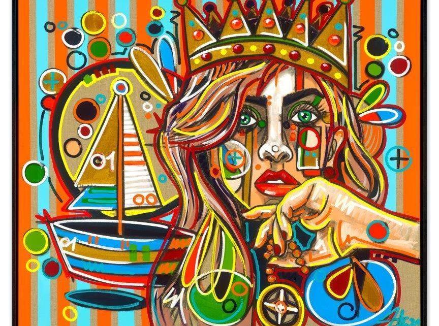 David Tollmann - Sailors Queen - inklusive Schattenfugenrahmen